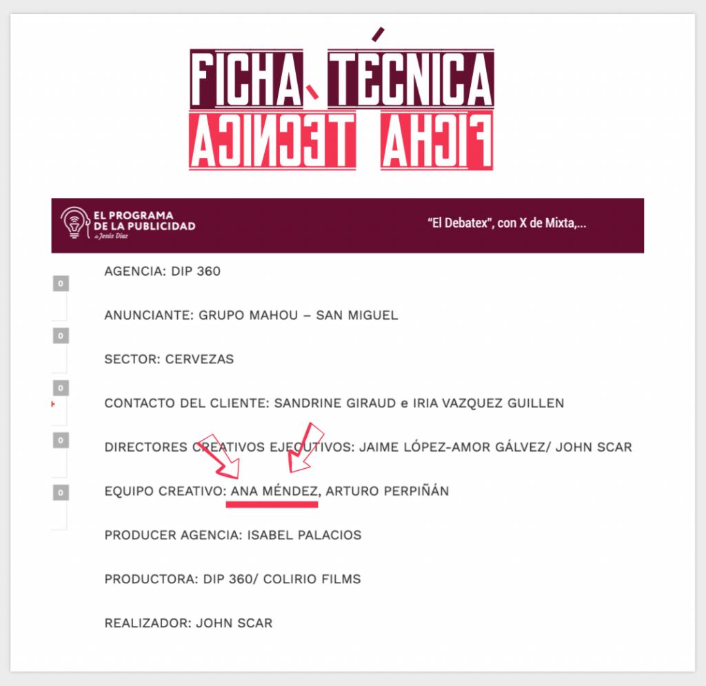 """Ficha técnica equipo """"El Debatex"""" Mixta"""