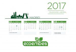 Diseño y maquetación del calendario 2917 de Ecoembes.