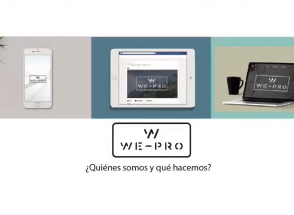 proyecto we-pro ganador del primer premio como mejor proyecto de emprendimiento.